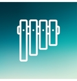 Vibraphone thin line icon vector image