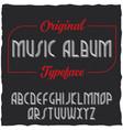 vintage label typeface named music album vector image vector image
