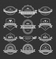 vintage quality guarantee stickers vector image