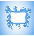 watersplash vector image vector image