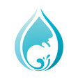 wave with drop on white background vector image vector image