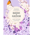 Wedding invitation with lilac vector image