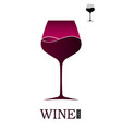 wine shop or wine menu logo or emblem with a wine vector image