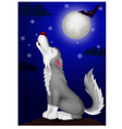 Wolf cartoon howling vector image vector image