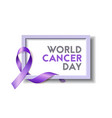 world cancer day concept vector image