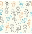 Seamless pattern with kids vector image