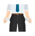 Businessman has no money vector image