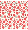 Simple and beauty flower seamless pattern vector image