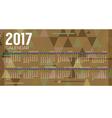 2017 Printable Calendar Starts Sunday Geometric