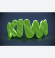 3d typography - kiwi vector image vector image