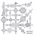 absatract elements set vector image vector image