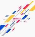 abstract geometric background sports poster with vector image vector image