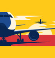 air traffic flat style of the vector image
