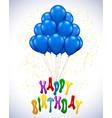 ballon for party birthday vector image vector image