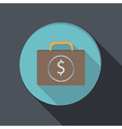 Banking Financial Icon in Flat Design vector image