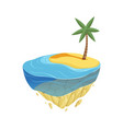 beach island isometric summer location game vector image