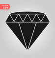 black diamond icon white vector image