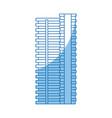 building skyscraper tower windows exterior vector image vector image