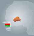 burkina faso information map vector image