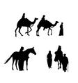 caravan of camels vector image vector image