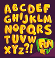 cartoon yellow font vector image