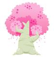 Cherry blossom tree vector image vector image