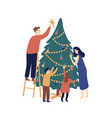christmas tree decoration flat vector image vector image