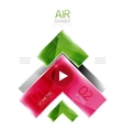 Color glossy glass arrow banner vector image vector image