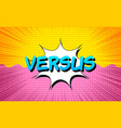 comic fight and competition concept vector image vector image