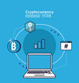 cryptocurrency system technology vector image