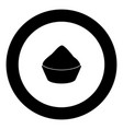 cupcake black icon in circle isolated vector image vector image