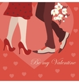 Dating man and woman greeting card vector image vector image