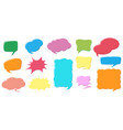 different color and design of speech bubbles vector image vector image