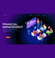 financial management concept banner vector image vector image
