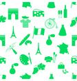 france country theme symbols and icons green vector image vector image