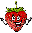 funny strawberry fruit cartoon vector image