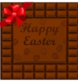 Happy Easter chocolate vector image