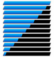 horizontal progress loading bar templates vector image vector image