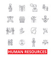 human resources people hiring employee hr vector image vector image