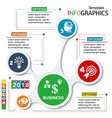 infographic template chart vector image