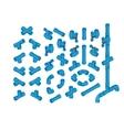Isometric PVC Plumbing vector image