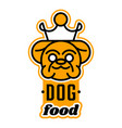 logo on the theme of food for dogs english vector image vector image