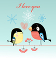 lovers tit and bullfinch vector image vector image