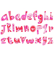 lower case love alphabet vector image vector image