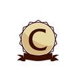 modern logo solution letter c vector image