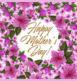 mother day flower frame for spring holiday card vector image vector image