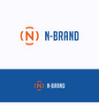 n brand logo vector image vector image