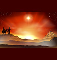 nativity christmas story vector image vector image