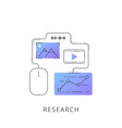 neon research line icon vector image
