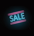 neon sale sign on brick wall vector image